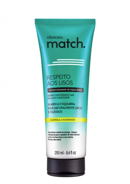 O Boticário Match Respect For The Straight Hair Conditioner For Oily Hair 250ml