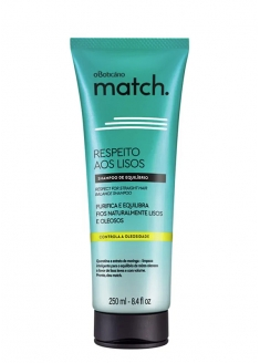 O Boticário Match Respect For The Straight Hair Shampoo For Oily Hair 250ml
