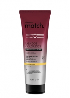 O Boticário Match Liga Dos Coloridos Blond Hair Protection Conditioner 250ml