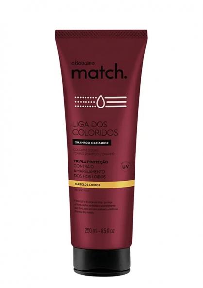 O Boticário Match Liga Dos Coloridos Blond Hair Protection Shampoo 250ml