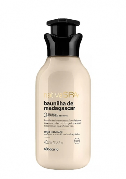 O Boticário Nativa SPA Madagascar's Vanilla Moisturising Body Lotion 400ml